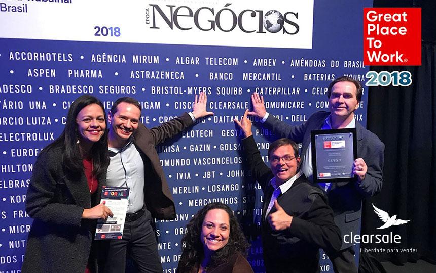 Prêmio GPTW 2018: ClearSale é mais uma vez uma das Melhores Empresas para se Trabalhar